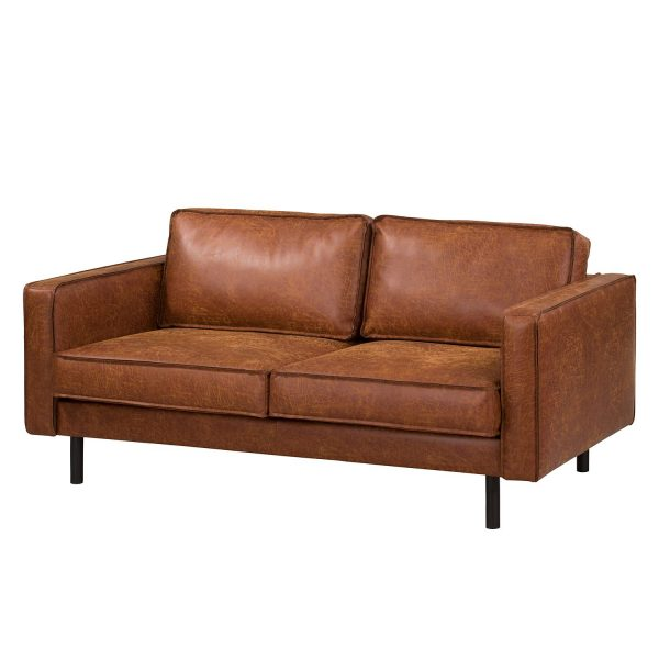 Sofa Fort Dodge (2-Sitzer) Antiklederlook - Cognac