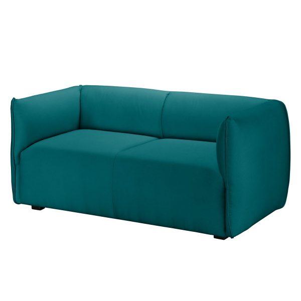Sofa Grady I (2-Sitzer) Webstoff - Petrol