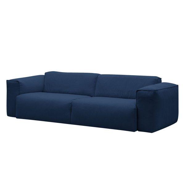 Sofa Hudson II (3-Sitzer) Webstoff - Stoff Anda II Blau