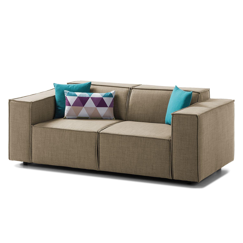 sofa kinx 2 sitzer webstoff keine funktion stoff milan grau braun kinx online kaufen bei. Black Bedroom Furniture Sets. Home Design Ideas