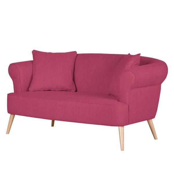 Sofa Lilou (2-Sitzer) Webstoff - Weinrot