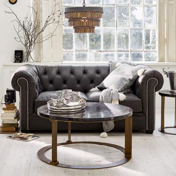 Sofa Meaux anthrazit H/B/T ca. 73/180/92 cm