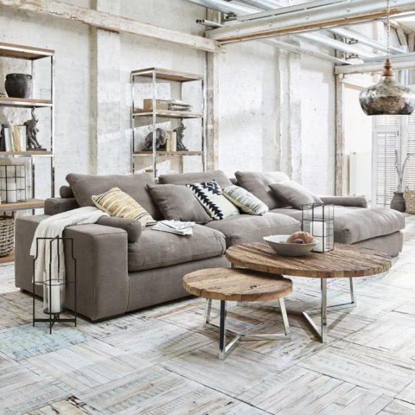 Sofa Meredith grau H/B/T ca. 68/356/142 cm