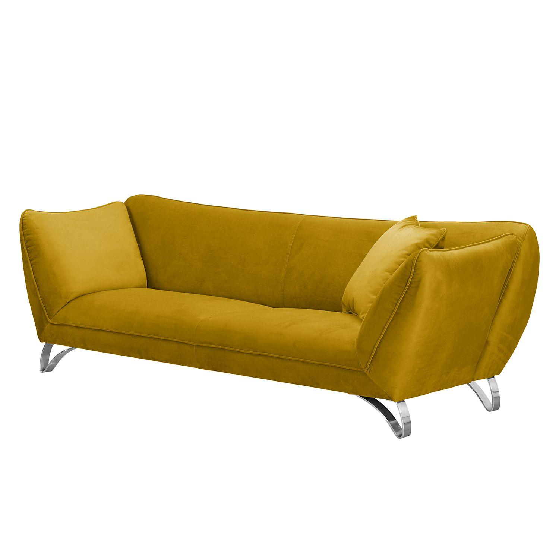 sofa michie 3 sitzer microfaser ocker armlehnen ohne funktion loftscape online kaufen bei. Black Bedroom Furniture Sets. Home Design Ideas