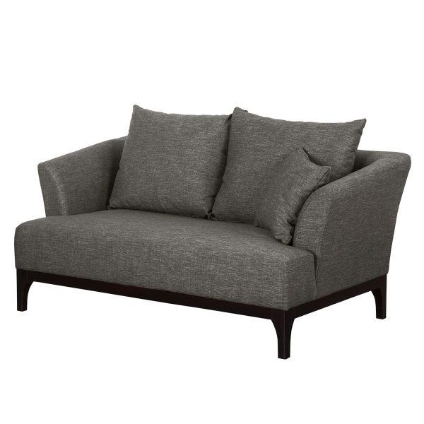 Sofa New Dalton (2-Sitzer) Webstoff - Grau
