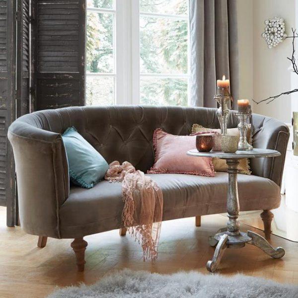 Sofa Périgné grau H/B/T ca. 80/170/60 cm