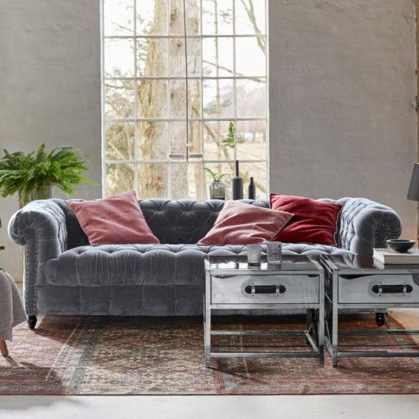 Sofa Parpeville grau H/B/T ca. 70/220/90 cm