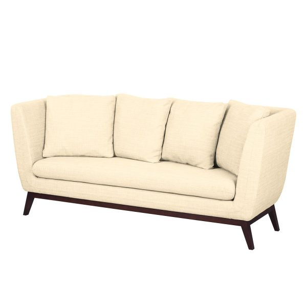 Sofa Sagone (3-Sitzer) Webstoff - Cremeweiß