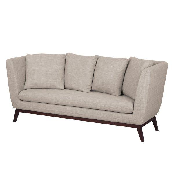 Sofa Sagone (3-Sitzer) Webstoff - Hellgrau