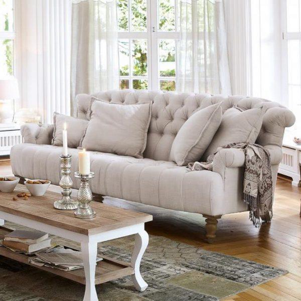 Sofa Springfield Village leinen H/B/T ca. 93/224/112 cm