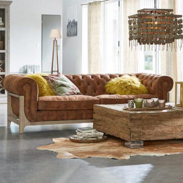 Sofa Swansboro braun H/B/T ca. 74/227/90 cm