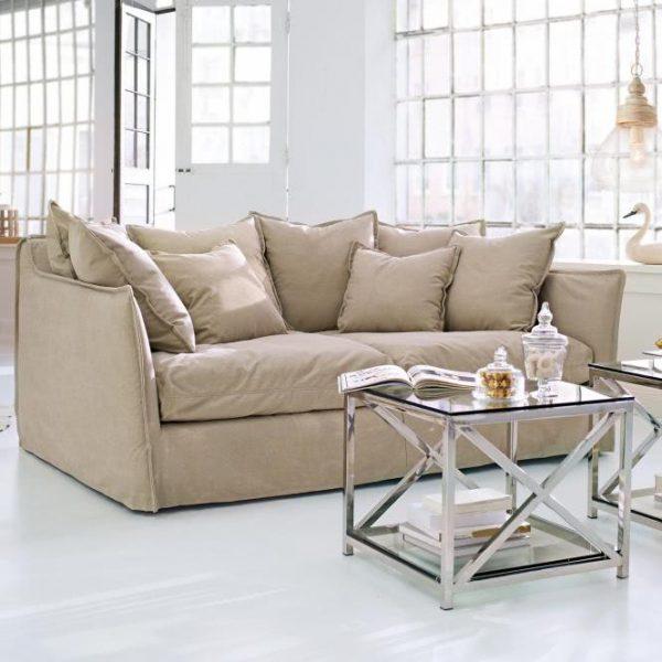 Sofa Thornton creme H/B/T ca. 90/216/141 cm