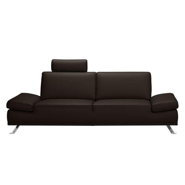 Sofa Toone (3-Sitzer) Kunstleder - Dunkelbraun