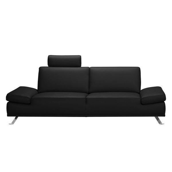 Sofa Toone (3-Sitzer) Kunstleder - Schwarz
