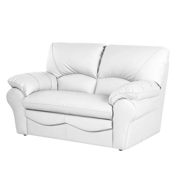 Sofa Torsby (2-Sitzer) - Kunstleder - Weiß