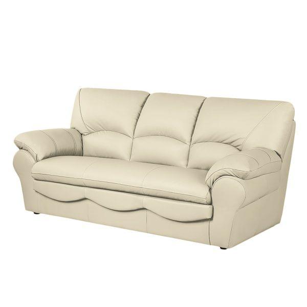 Sofa Torsby (3-Sitzer) - Kunstleder - Mit Schlaffunktion - Ecru