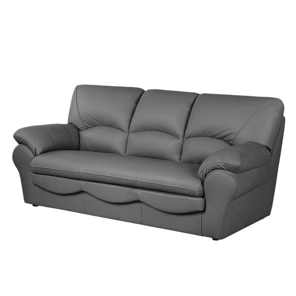 Sofa Torsby (3-Sitzer) - Kunstleder - Mit Schlaffunktion - Grau