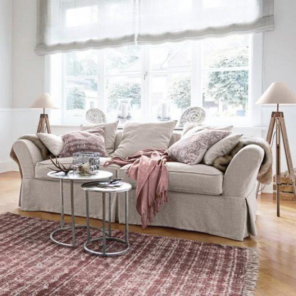 Sofa Worcester creme H/B/T ca. 78/226/86 cm