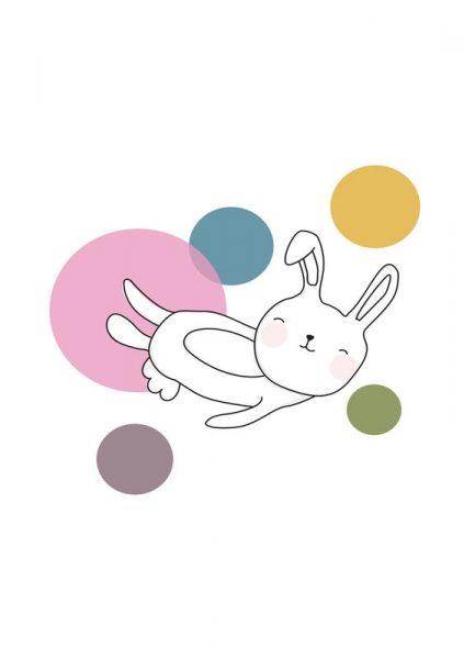 Space Rabbits Neo Leinwandbild