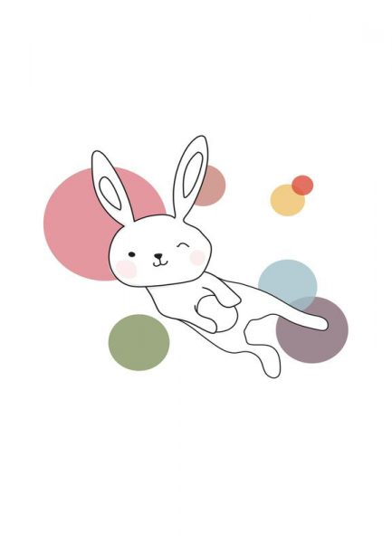 Space Rabbits Selena Leinwandbild
