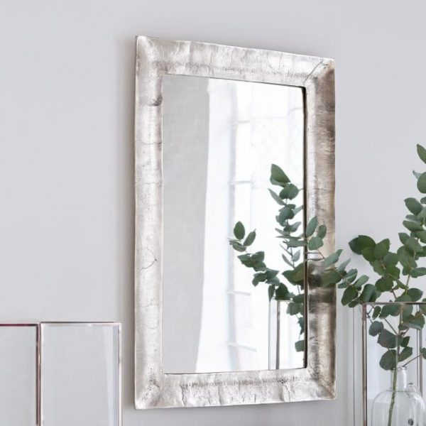Spiegel Bellevalley antiksilber/klar H/B/T ca. 90/60/3 cm
