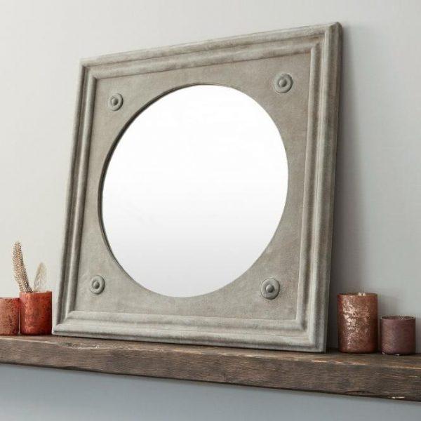 Spiegel Doriane grau H/B/T ca. 61/61/3 cm
