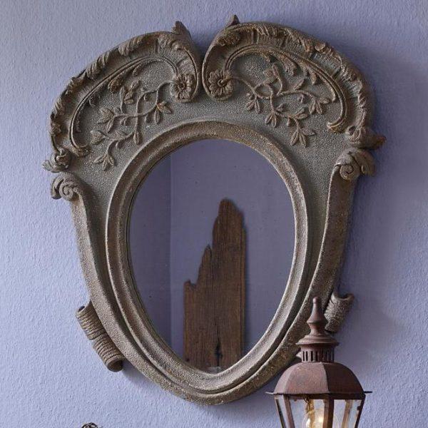 Spiegel Léchelle braun/blau H/B/T ca. 83/75/4 cm