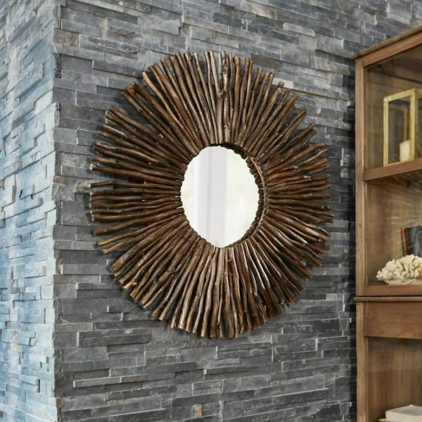 Spiegel Salicas braun Ø/T ca. 100/7 cm
