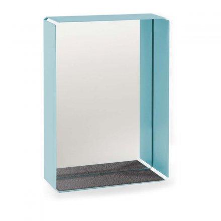 Spiegelbox MIRROR-BOX pastelltürkis/grau türkis Stahlblech