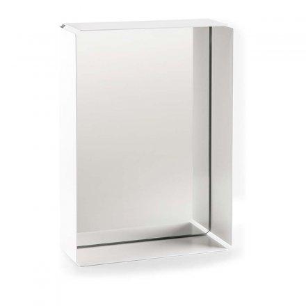Spiegelbox MIRROR-BOX weiß/grau weiß Stahlblech