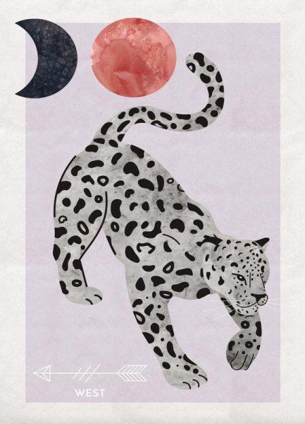 Spirit Animal Jaguar Leinwandbild