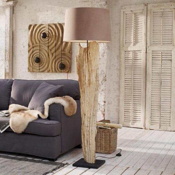 Stehlampe Marshfield braun H/Ø ca. 150/30 cm