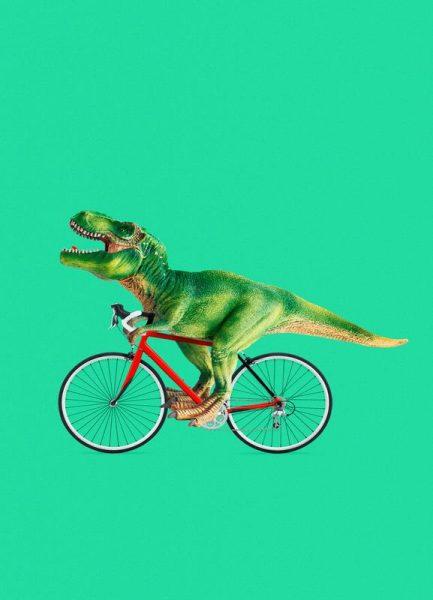 T Rex Bike Leinwandbild