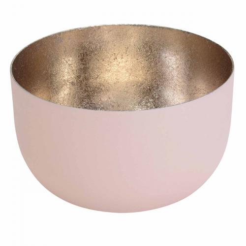 Teelichthalter Madras S blush/nudegoldrosé / gold