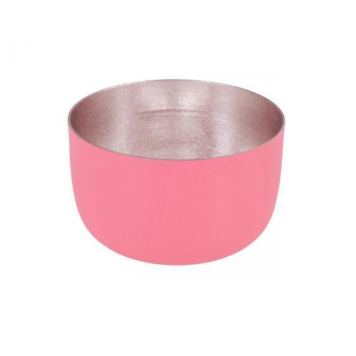Teelichthalter Madras S coral matt/nudegoldkoralle / goldfarben