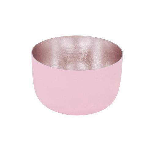 Teelichthalter Madras S mahagony rose matt/roségoldmahagony rose / goldfarben