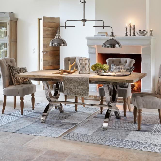 tisch grover silber braun online kaufen bei woonio. Black Bedroom Furniture Sets. Home Design Ideas