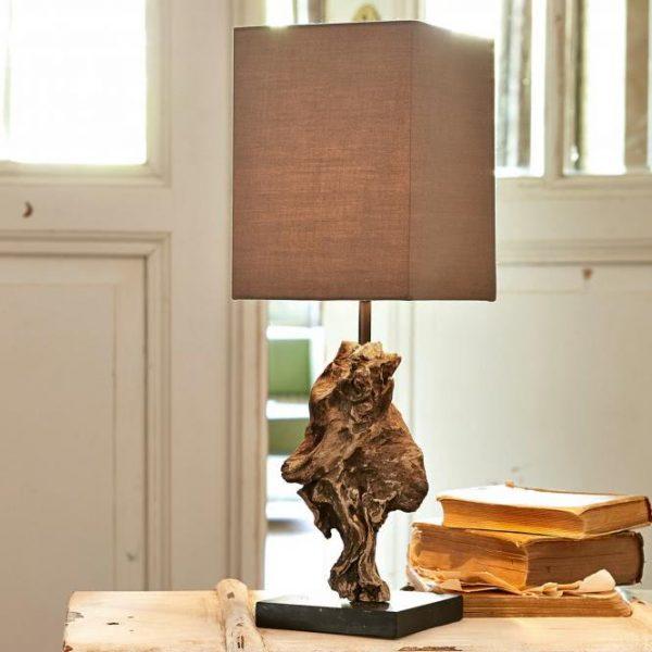 Tischlampe Eadlyn braun Gesamthöhe ca. 50 cm