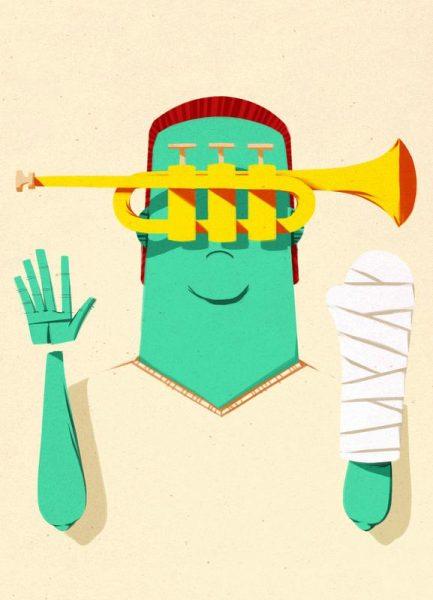 Trumpeter Broken Arm Leinwandbild