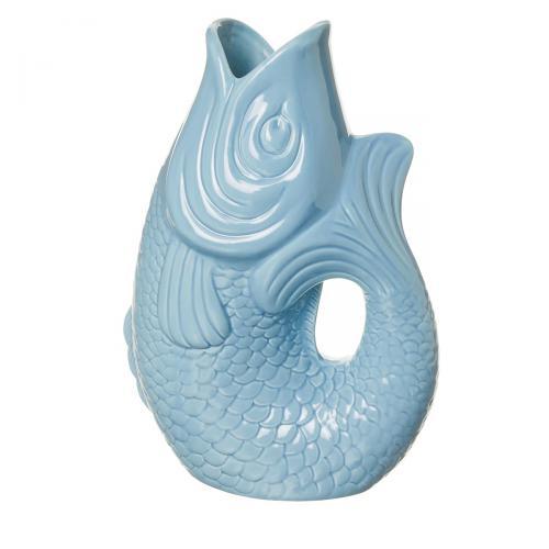 Vase/Krug Monsieur Carafon fresh water blue