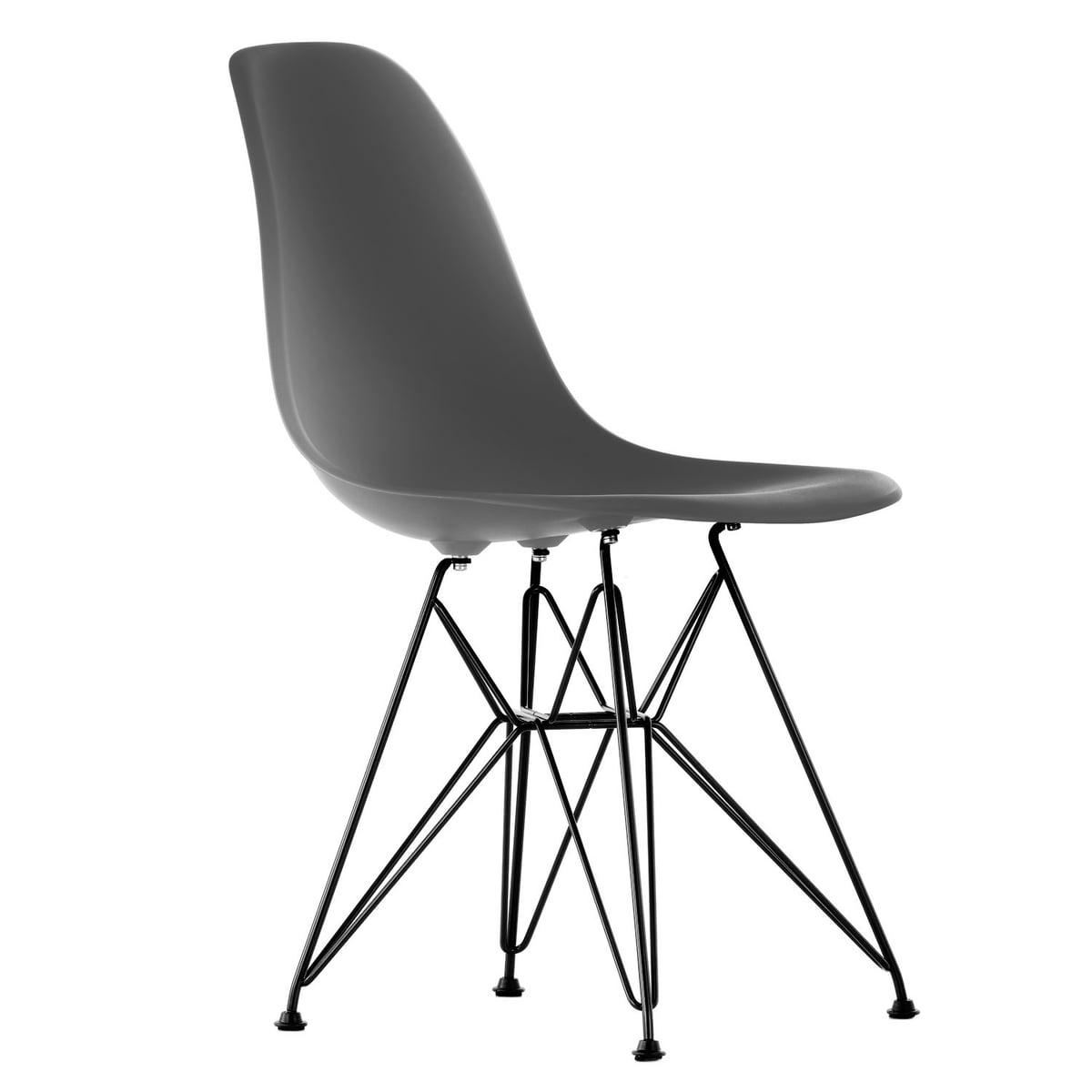 Vitra Eames Plastic Side Chair Dsr H 43 Cm Pulverbeschichtet