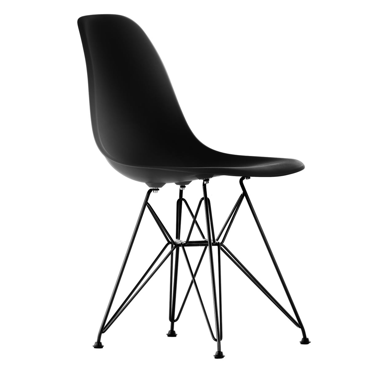 vitra eames plastic side chair dsr h 43 cm pulverbeschichtet basic dark. Black Bedroom Furniture Sets. Home Design Ideas