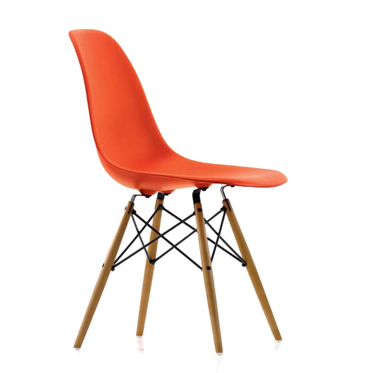 Vitra Eames Plastic Side Chair Dsw H 43 Cm Ahorn Gelblich