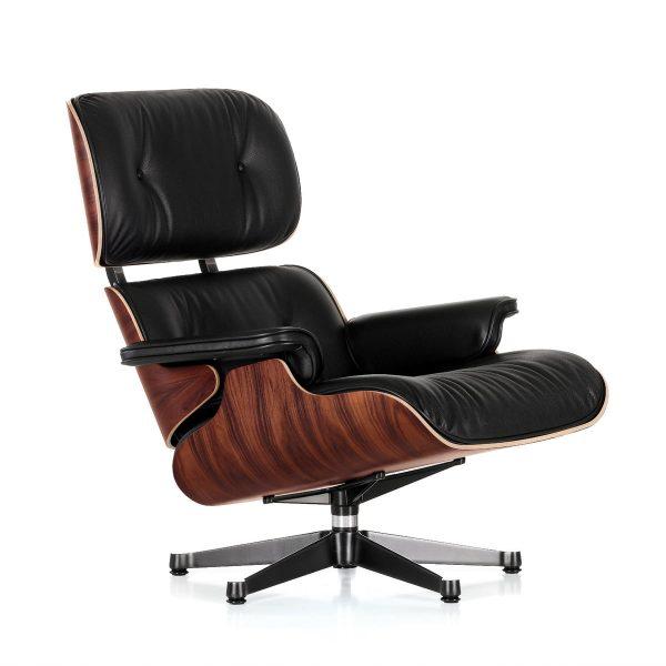 Vitra - Lounge Chair poliert / Seiten schwarz