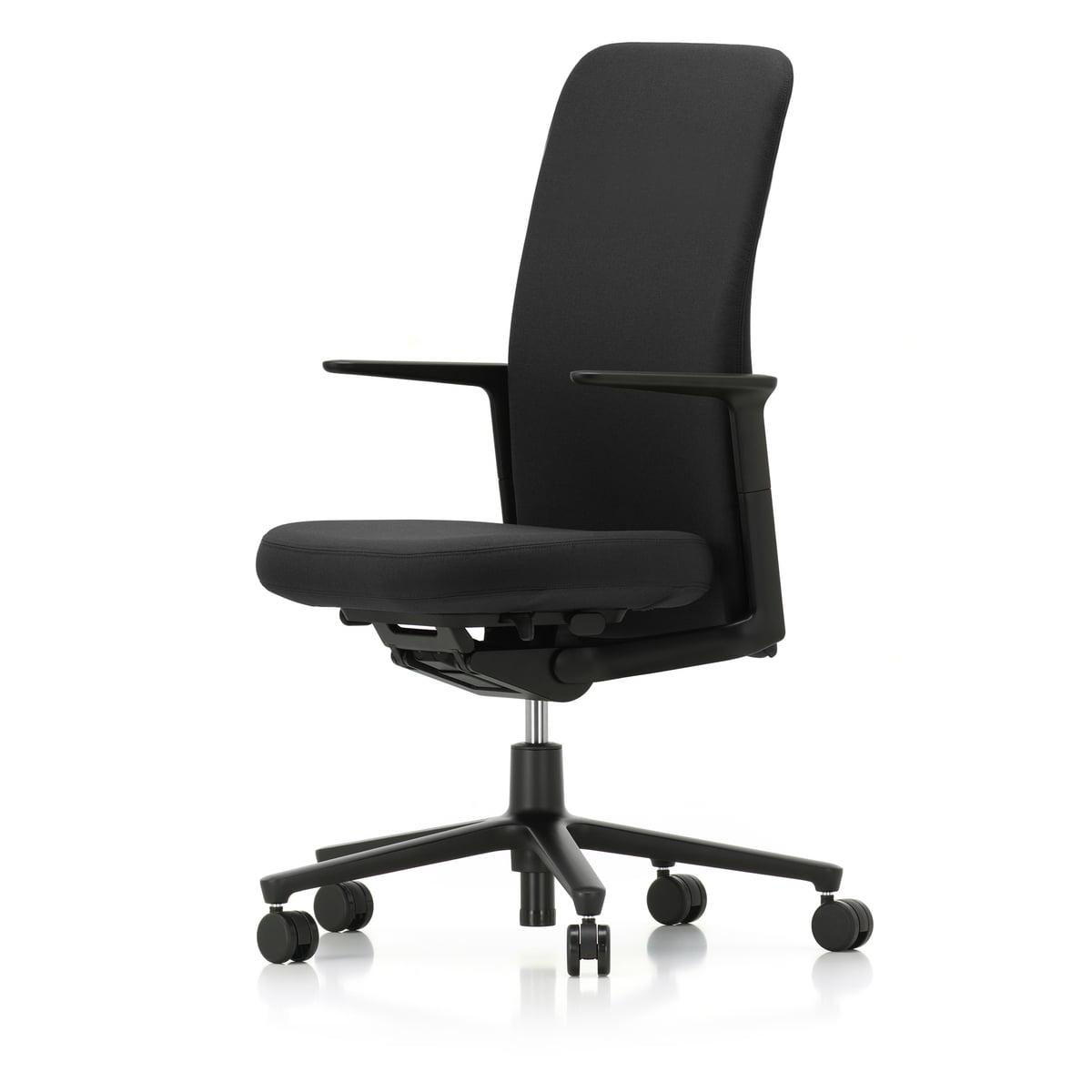 vitra pacific chair hoch armlehnen verstellbar f nfstern gestell schwarz rollen. Black Bedroom Furniture Sets. Home Design Ideas