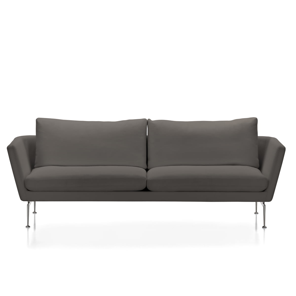 vitra suita sofa 3 sitzer classic weich bezug dumet sand anthrazit untergestell. Black Bedroom Furniture Sets. Home Design Ideas