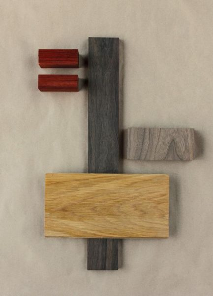 White Oak Dark Walnut Wood Leinwandbild