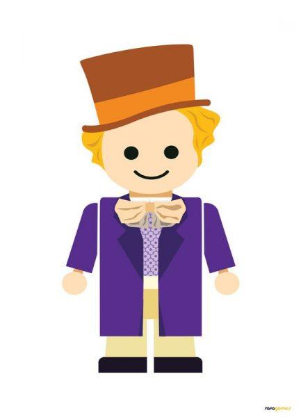 Willy Wonka Toy Leinwandbild