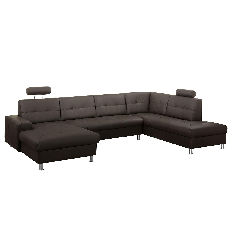 wohnlandschaft straid echtleder kunstleder longchair. Black Bedroom Furniture Sets. Home Design Ideas