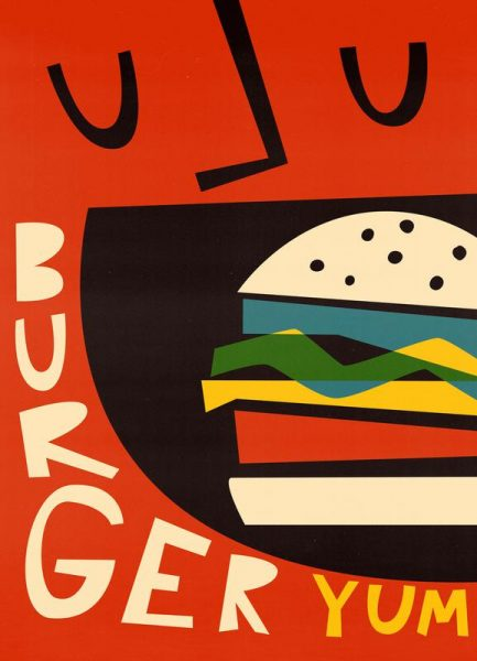 Yum Burger Leinwandbild